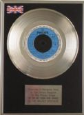 "WALKER BROS-7"" Platinum Disc-THE SUN AIN'T GONNA SHINE"